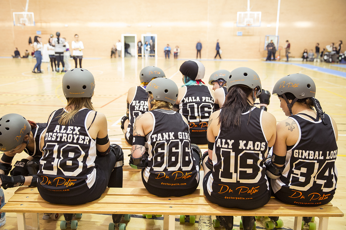 banquillo equipo roller derby