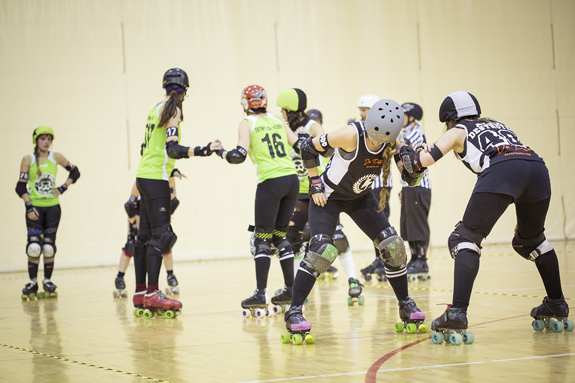 pack partido roller derby patines